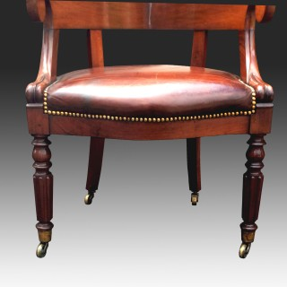 Antique Georgian Mahogany Desk Chair