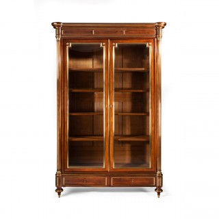 Fine Quality Grand Parisian 19thC French Mahogany and Brass Bookcase or Vitrine By Robert Dennery Sousman & Robinot of Paris