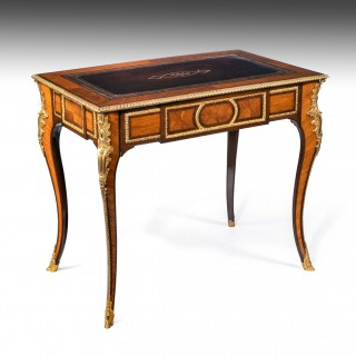 Fine French Gilt Ormolu Kingwood Writing Table