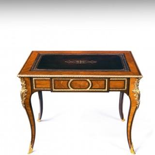 Fine French Gilt Ormolu Kingwood Writing Table