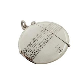 Antique Edwardian Sterling Silver Cricket Ball Vesta 1905