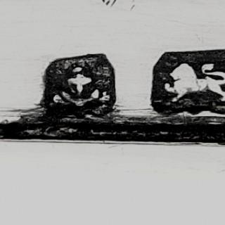 Antique Edwardian Sterling Silver Trinket Box on Feet 1906