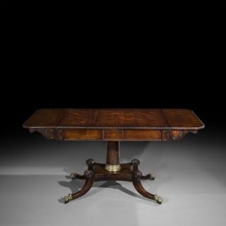 Fine Regency Rosewood Library Table