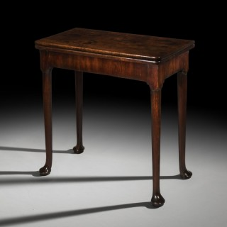 George II Red Walnut Card Table
