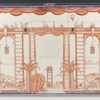 Landscape and architectural ceramic panel