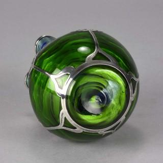 Art Nouveau Titania Silvered Glass Vase by Johann Loetz