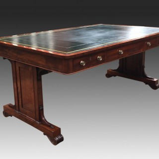 Large Antique Regency Library Table or Desk