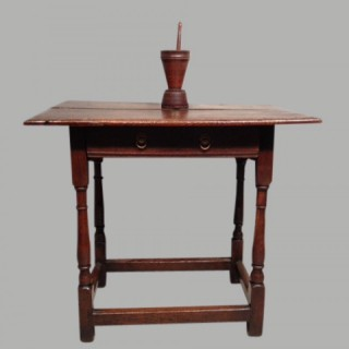 17th century Welsh oak side table.