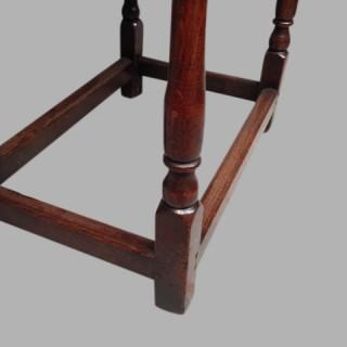 17th century Welsh oak side table.