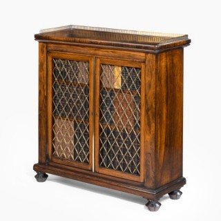 Regency rosewood two door bookcase