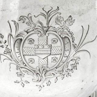 Antique Irish Silver Lidded Tankard