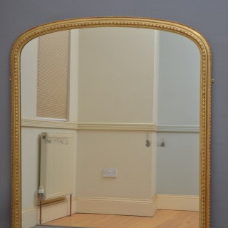 Large Victorian Overmantel Gilt Mirror