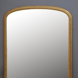 Large Victorian Overmantel Gilt Mirror