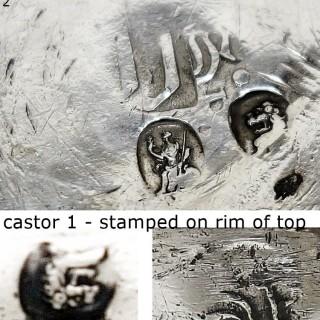 Antique Queen Anne Silver Casters