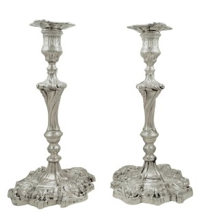 Pair of Antique Georgian Sterling Silver 11
