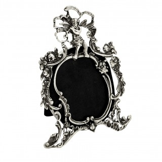 Antique Victorian Sterling Silver Photo Frame 1888