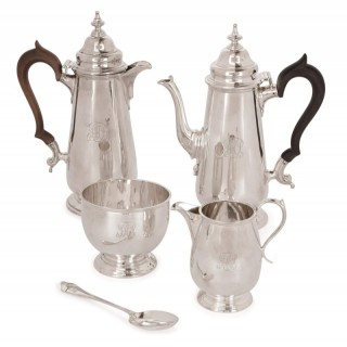 Silver coffee set by Holland, Aldwinckle & Slater