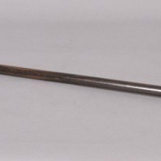 Antique Early 20th century Coromandel Tapered Walking Cane