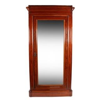 Victorian Maple & Co Mirror Door Wardrobe