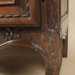 Oak Carved Normandy Wedding Armoire