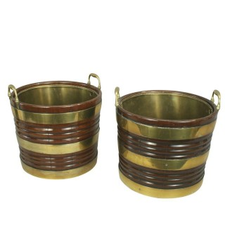 PAIR OF IRISH PEAT BUCKETS