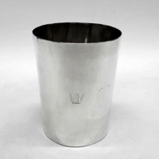 Antique George III Silver Beaker