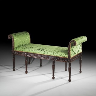 19th Century Neoclassical Adam Style Window Seat or Bench
