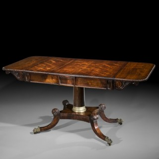 Regency Rosewood Brass Mounted Writing Table