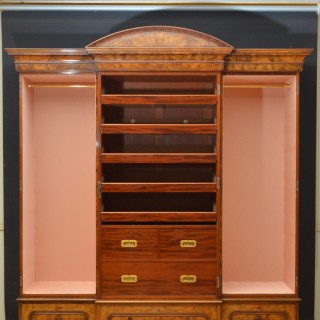 Superb Victorian 3 Door Walnut Wardrobe