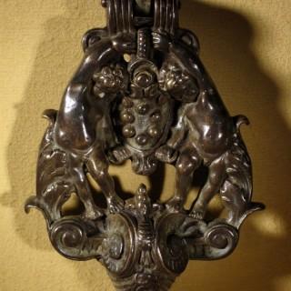 Unusual Beautiful Bronze Door Knocker