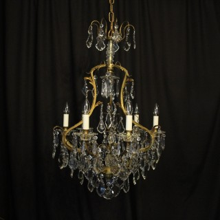 French Gilded 7 Light Antique Chandelier