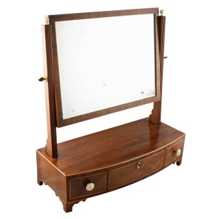 Georgian Bow Fronted Dressing Mirror