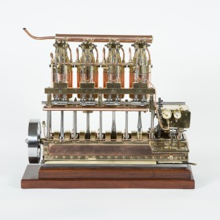 VERTICAL 4 CYLINDER MINIATURE ENGINE