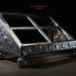 An important and rare Dutch silver lectern book stand, 1707