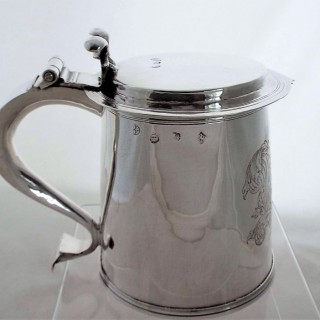 Very rare armorial single step Charles II silver ladies tankard London 1674 Simon Romney