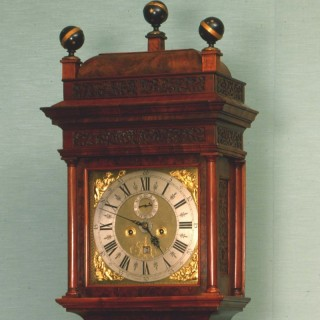 A beautiful and very rare early burr walnut Amsterdam longcase clock, made by: Andries  Vermeulen,  1650-1730