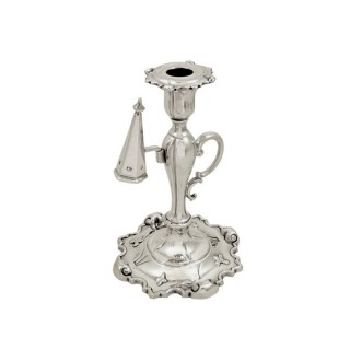 Antique Victorian Sterling Silver Chamberstick 1851