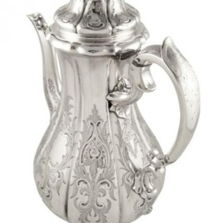 Antique Victorian Sterling Silver Coffee Pot 1840