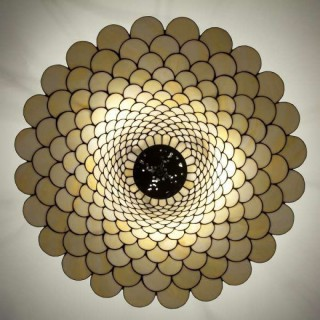 30 INCH TIFFANY FISH SCALE CEILING LIGHT PENDANT SHADE
