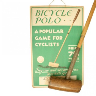 Bicycle Polo Advert and Mallet