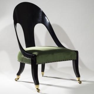 Regency Klismos Tub Chair