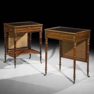 Near Pair of George III Period Writing Tables attributed to John McLean