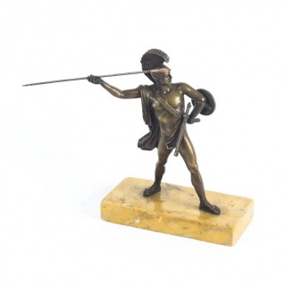 Antique Italian Grand Tour Bronze figure of Roman Commander, 19thC