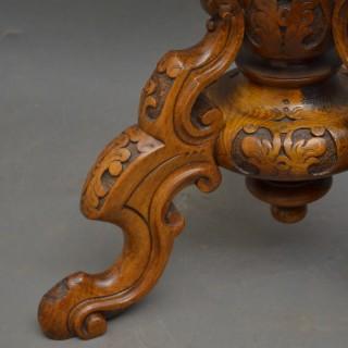Victorian Walnut Piano Stool