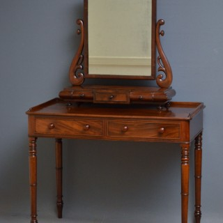 George IV Mahogany Dressing Table or Writing Table