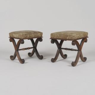 A Pair of Late Regency Footstools