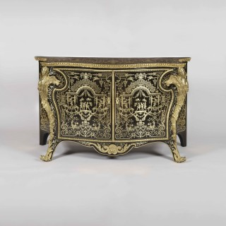 A Fine Commode By Mellier and Company in the Manner of André-Charles Boulle