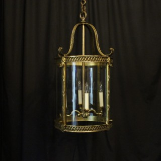 French 19th Century Large Bronze Four Light Antique Lantern