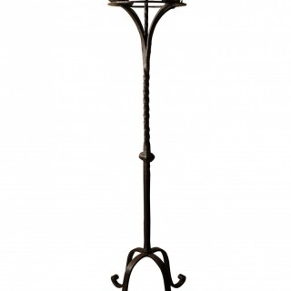 Wrought iron five light candlestand, France circa 1700