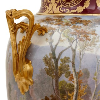 Pair of antique porcelain vases by Sevres